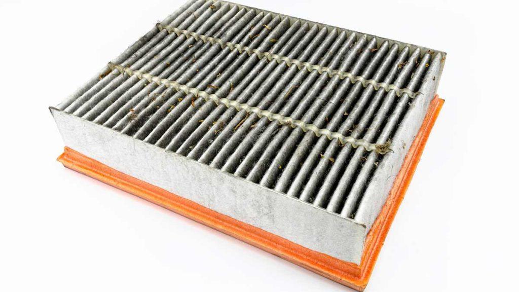 Dirty engine air filter
